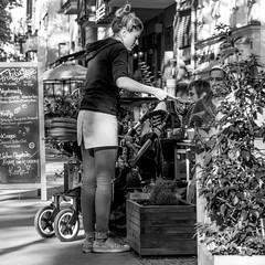 well balanced (every pixel counts) Tags: 2018 café berlin city day prenzlauerberg capital street everypixelcounts blackandwhite people girl 11 bw sign eu waitress square blond berlinalive blackwhite europa