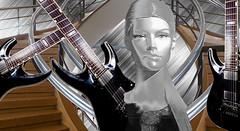 Heavy Metal (abstractartangel77) Tags: heavymetal silver mannequin dansguitar