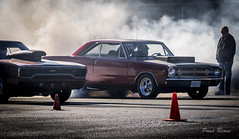Drags (Paul Rioux) Tags: drag racing motorsport competition race automobiles autos mopar dart road runner smoke burnout starting line prioux western cars speedway