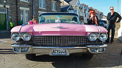 Pink Cadillac (cmw_1965) Tags: porthcawl elvis elvies festival 2018 music rock roll presley wales welsh 29th september pink cadillac sixty special tailfins chrome fleetwood acy444a
