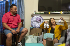 0922 Cody and Amber open presents at their baby shower
