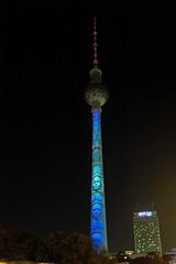 Berlin Festival of Lights 2018 Fernsehturm (rieblinga) Tags: berlin leuchtet festival of light 2018 fernsehturm alexanderplatz 10102018 nachtaufnahme