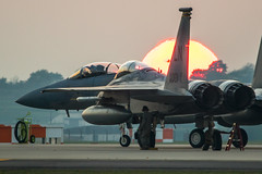 Eagle Sunset (Nick Collins Photography, Thanks for 3 million vie) Tags: f15 eagle lakenheath ln aircraft aviation flying military canon 7dmk2 sigma 493rd grim reapers usaf usa usafe uk