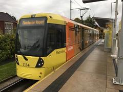 Manchester Metrolink 3114 (Mike McNiven) Tags: iphone martinscroft advert easyjet victoria airport manchesterairport wythenshawe metro lightrail lrv tram metrolink manchester