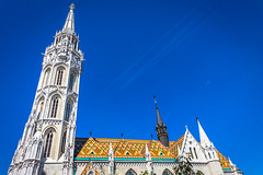 The architecture of the Matthias Church in Budapest really is beautiful.
