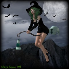 Ride with the Moon in the Dead of Night (Julianna Seriman) Tags: magika maitreya lelutka starsugar witch cutewitch halloween secondlife free groupgift slfree freeinsecondlife juliannaseriman juli fabfree fabfreeinsecondlife fabulouslyfree fabulouslyfreeinsecondlife sl slfashion