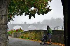 Herbstimmung in Würzburg - Autumn mood in Würzburg (cammino5) Tags: würzburg herbst alterkranen altemainbrücke burkarderkirche oktober 2018 franken bayern deutschland gegenlicht