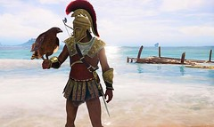 """ The Eagle Bearer "" (maka_kagesl) Tags: virtual videogame game gaming ps sparta spartan warrior greek greece eagle bird animal sl second secondlife maka makaveli040 makakage makakagesl life water waves wave sand sky sea ocean"