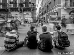People Watching 01 (orgazmo) Tags: streetphotography people rome roma italy italia olympus omd em1mk2 panasonic leica micro43s leicadgvarioelmarit818mmf284asph m43s monochrome blackwhite