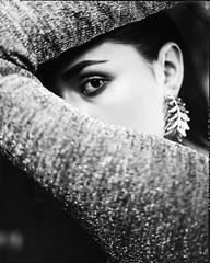 **** (ally.fane) Tags: analogue film largeformat portrait xrayfilm blackandwhite fujifilm toyo studio light girlsonfilm girl crop 4x5