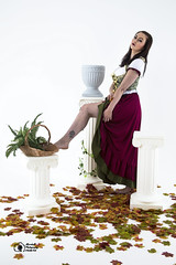 Aisling-IMG_0109 (GolderPhotography) Tags: peasantdress leaves fernsbasket greekcolumns barefooted