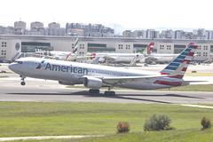 N389AA | American Airlines | Boeing B767-323(ER)(WL) | CN 27449 | Built 1996 | LIS/LPPT 04/05/2018 (Mick Planespotter) Tags: aircraft airport 2018 nik sharpenerpro3 n389aa american airlines boeing b767323erwl 27449 1996 lis lppt 04052018 b767 flight aa portela portugal lisbon