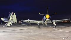 Hawker Sea Fury T20 (Matt Sudol) Tags: sea fury hawker t20 heron station air royal naval hms yeovilton aviation ltd wings navy fb 11 grnhf vr930 night shoot nightshoot thresholdaero flight historic