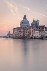 Early morning in Venice (pascalct) Tags: basilique morning venise leverdesoleil matin eau bateau santamariadellasalute italie canal garndcanal wideangle longexposure reflection sunrise