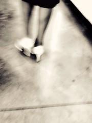 A une passante... (objet introuvable) Tags: blackandwhite bw noiretblanc nb pas marche walk shoe white musée charleroi monochrome street urban urbanlife