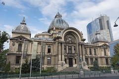 Architecture in Bucharest (Andrea Rizzi Esk) Tags: bucharest romania architecture architectural bulding glass sky front arc city cityscape classic