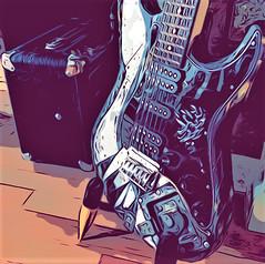 Guitar Blues! (springblossom3) Tags: cartoon guitar handmade etsy jtree63