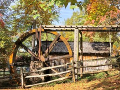 waterwheel (JiminSC) Tags: georgia northgeorgia waterwheel agriculture scene stream mill wheel nature gristmill water scenic america landscape usa rural grist northerngeorgia countryside american view woods autumn beautiful country outdoors buildings foliage river flourmill trees scenery southern industry fall agricultural power fashioned old retro heritage