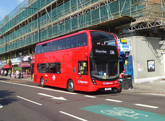 SLN 11004 - YY18TLK - PECKHAM HIGH STREET - THUR 6TH SEPT 2018 (Bexleybus) Tags: peckham high street south east london tfl route 199 stagecoach adl dennis enviro mmc hybrid 11004 yy18tlk brand new