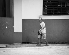Watching (Beegee49) Tags: street elderly lady walking looking bacolod city philippines