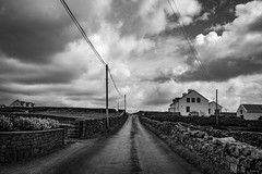 Liminal hymn (danpaol) Tags: storm blackandwhite monochrome ireland éire clouds road travel ontheroad backpacking