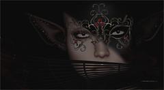 Blow That Smoke (tarja.haven) Tags: amias cosmopolitan mask photography photo pixelart portrait tarjahaven event avatar sl digitalart secondlife fashion virtual