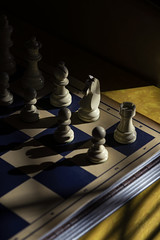 Chessboard (Curtis Gregory Perry) Tags: chess chessboard pieces king queen rook knight pawn nikon d810