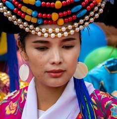 Mosuo Woman (Rod Waddington) Tags: china chinese traditional yunnan mosuo minority tribe tribal bridesmaid beauty culture cultural ethnic ethnicity outdoor wedding nuptials costume tibetan buddhist people candid