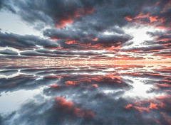 Mirror image.Lake Huron,Bayfield Ontario Canada. (Mel Diotte) Tags: lake huron bayfield ontario canada clouds sunset landscape nikon d500 mel diotte explore