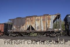 DRGW 18399 (Freight Car Resource) Tags: denverriograndewestern drgw freightcar railroad railway train coveredhopper twobay hopper sand