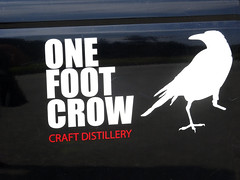 One Foot Crow (knightbefore_99) Tags: bc canada vancouver craft bird crow onefoot gin vodka black local west coast pickup design cool art