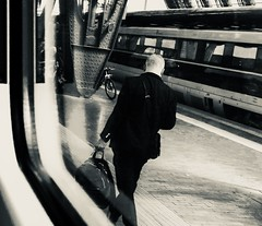 Venice in 24 hours (Tintina Gold) Tags: venice traveller man blackandwhite trip train milan station streetphotography