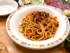Italian tomato sauce pasta - Stock image (DigiPub) Tags: 義大利麵 億粉 1061563048 istock 283780806 cooked diningtable finedining food foodanddrink freshness fried gourmet healthyeating horizontal ingredient italianculture italianfood japan lunch meal nopeople noodles pasta photography plate readytoeat restaurant savoryfood spaghetti takenonmobiledevice tomatosauce tradition yokohama