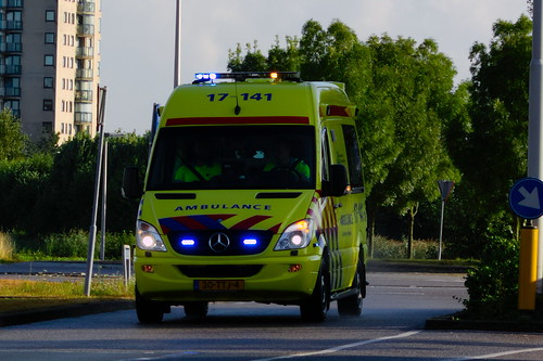 6050f7cea8 Dutch ambulance underway to an emergency call in Spijkenisse