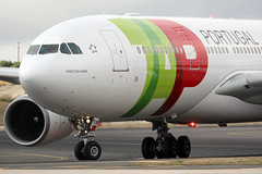 TAP - Air Portugal A330-200 CS-TOM landing LIS/LPPT (Jaws300) Tags: canon5d vascodagama vasco da gama tp air portugal tapair airportugal airline airlines airways airport airbus beacon landing a330 a332 lisbon tap tapportugal a330200 cstom lppt lis humberto delgado lisbonhumbertodelgadoairport portela lisbonportelaairport portelaairport airplane aircraft vacating runway taxiway ramp apron gate stand terminal taxiing general electric ge cf680 gecf680 generalelectric