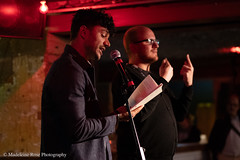 Raymond Antrobus & Adrian Bailey (Penned in the Margins) Tags: perseverance poetry spoken word poet performance shoreditch hackney raymond antrobus bsl sign language deaf book launch books publishing poetic poem