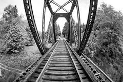 Seasons Call (Thomas Hawk) Tags: america glendale oregon southernoregon usa unitedstates unitedstatesofamerica bridge bw trainbridge traintracks fav10 fav25 fav50 fav100