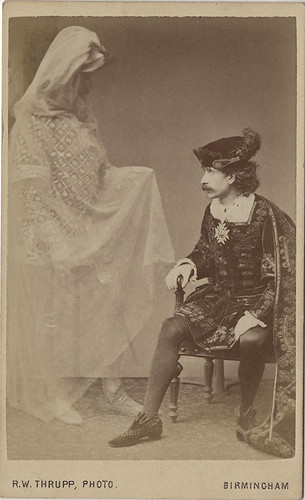 Carte De Visite Of Hamlet And The Ghost