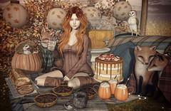 Falling for Desserts (Gabriella Marshdevil ~ Trying to catch up!) Tags: sl secondlife cute kawaii doll catwa disorderly halfdeer jian gacha autumn sways