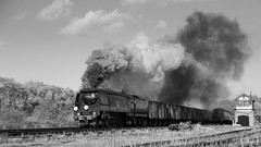 Fast Goods (Duck 1966) Tags: 34092 cityofwells timelineevents goods gcr swithland vans steam locomotive train