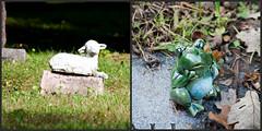 A Lamb & A Frog (Just Say Jules!) Tags: photochallenge october cemetery graveyard oakwoodcemetery saginawmichigan
