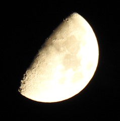Half Moon (BiggestWoo) Tags: ultra bridge zoom p900 nikon sky lincolnshire wane wax half moon