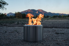 Solo Stove (M///S///H) Tags: lenstagger nm alpenglow fire mountains newmexico solostove taos taosnewmexico