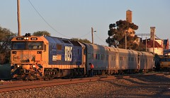 8135 has coupled back onto the AK Cars ready for the morning run to Adelaide (bukk05) Tags: 8135 railpage:class=47 railpage:loco=8135 rpaunsw81class rpaunsw81class8135 wimmera westernstandardgaugeline explore export engine emd electromotivediesel emd16645e3b railway railroad railpage rp3 rail railwaystation railwaystations train tracks tamron tamron16300 trains yard yarriambiackshire yarriambiack photograph photo pn pacificnational pnruralbulk loco locomotive light jt26c2ss horsepower hp flickr diesel station standardgauge sg spring silo australia artc akcars aktesttrain 2018 canon60d canon clyde clydeengineering victoria vr victorianrailway vline victorianrailways 81class mainline murtoa crew passenger