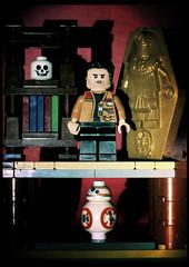 Edgar Allan Poe Dameron (LegoKlyph) Tags: lego brick block mini figure star wars poe bb8 droid pun horror gothic