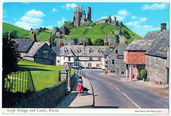 Corfe Village and Castle Prior to 1971 (pepandtim) Tags: postcard old early nostalgia nostalgic corfe village castle john hinde rupert street london printed republic ireland thunder clayden dearden wade bournemouth 03081971 1971 42crf65 scott battle close speen newbury berks berkshire kay milk lucky wendy continental air lines boeing cessna los angeles international airport lax