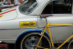 FFD 2018 (Shu-Sin) Tags: ffd 2018 ffd18 18 french fender day ct lyme jpw peter weigle bicycle bike velo ancien old vintage randonneur randonneuse touring 650b event gathering yellow stronglight volvo car