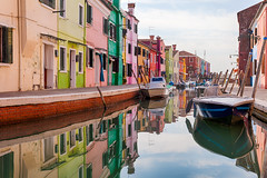 Burano, Italy (pong0814) Tags: canon eos 5dii dslr photography ef1740f4l outdoors ultrawide burano italy italian travel travelphotography vacation tourism europe colorfulhouses boat reflection pastel vivid colors day water venezia