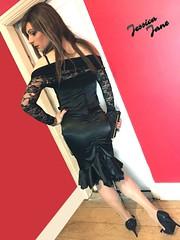 Black Satin & Lace (jessicajane9) Tags: satin transvestite cd tranny crossdresser transgender crossdress tgurl lace trans crossdressing tgirl m2f travesti xdress tv feminization feminised