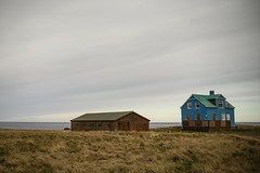 blue house (lawatt) Tags: stóraávík blue house barn pasture clouds árneshreppur iceland sonya7 leica 50mm summicronr